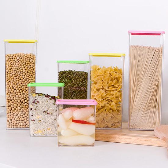 彩蓋疊加儲物罐(810ML) 廚房 食物 食品 五穀 雜糧 涼拌 料理 透明 堅果【N46】慢思行