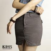【BTIS】平織斜紋鉚釘短裙  / 鐵灰色