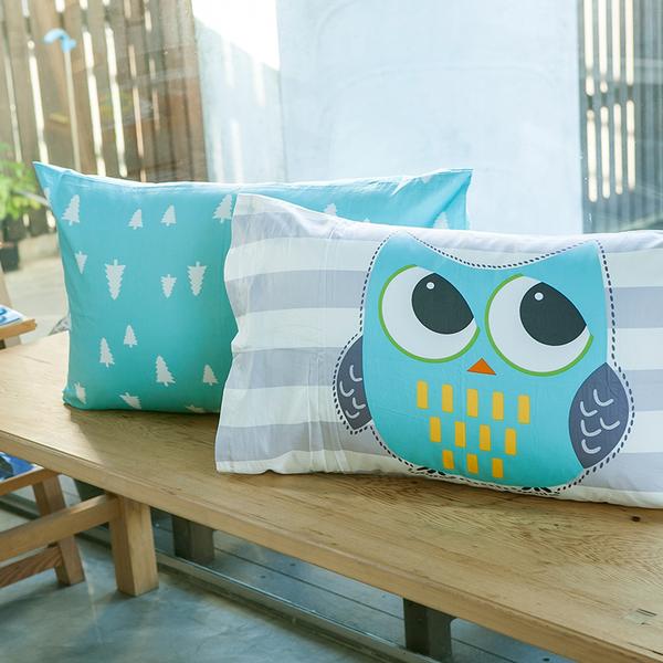 床包 / 雙人特大【遇見朵朵藍】含兩件枕套,100%精梳棉,奇妙童話時光,戀家小舖台灣製