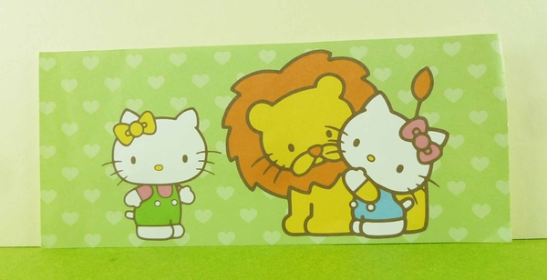 【震撼精品百貨】Hello Kitty 凱蒂貓~卡片-獅子綠