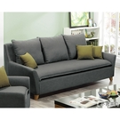 【森可家居】樂多三人座布沙發 8ZX518-4 灰色 北歐風 可拆洗