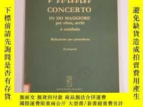 二手書博民逛書店Vivaldi罕見Concerto in do maggiore 維瓦爾第 C大調雙簧管協奏曲 (大16開本 ,另