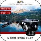 《飛翔無線3C》ROWA RW-336 360度 全景接口阻尼手柄雲台│公司貨│單手把相機雲台 穩固攝影 承重15KG