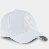 A/X 阿瑪尼橡膠標誌白色帽子