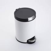 卡爾緩降超靜音踏式垃圾桶12L-白