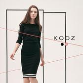 東京著衣【KODZ】雜誌爆款潮流修身撞色設計針織套裝-S.M.L(180107)