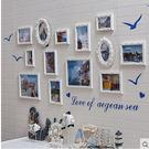 歐式實木照片牆 地中海相框牆 客廳沙發餐...