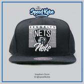M&N MITCHELL&NESS SNAPBACK 棒球帽 籃網 黑白 隊名LOGO MN6BHA12BNF☆SP☆