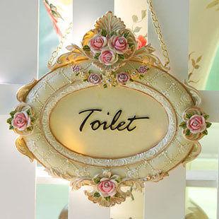 朱莉亞系列 洗手間 WC TOILET 裝飾 指示牌