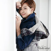 Victoria 牛仔外套-女-深藍