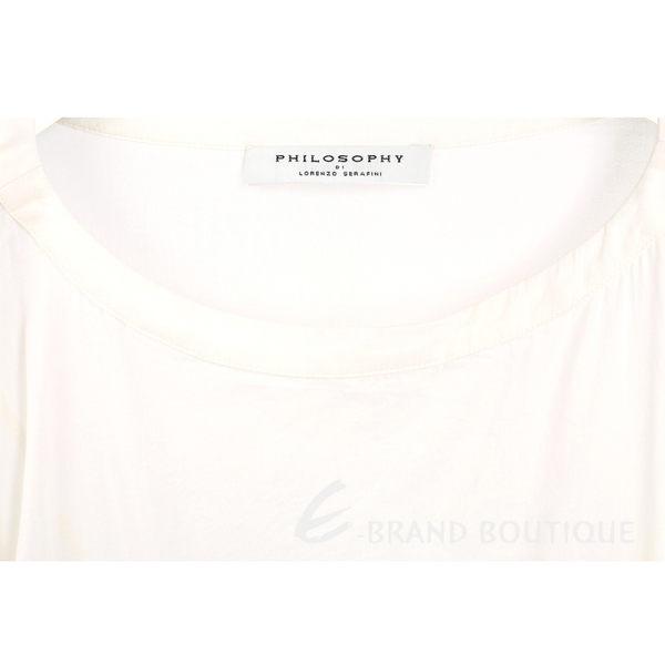 PHILOSOPHY 米白色拼接蕾絲設計短袖洋裝(附內襯) 1620150-20