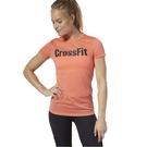 REEBOK CROSSFIT F.E.F. 女裝 短袖 慢跑 訓練 排汗 透氣 粉橘 【運動世界】 DP6215