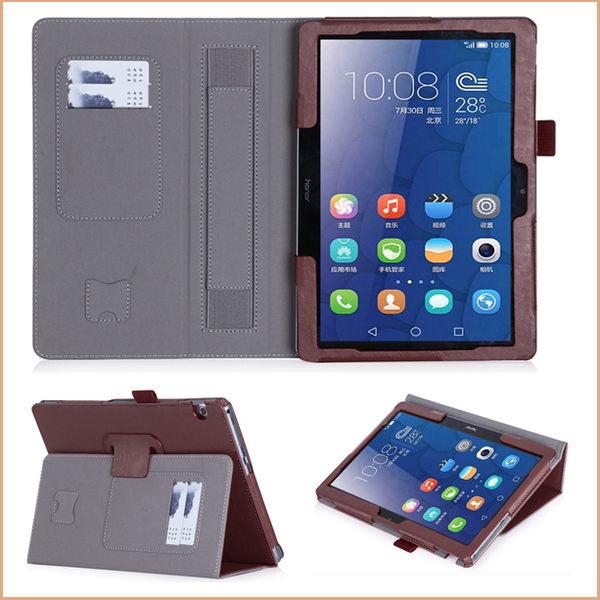 HUAWEI MediaPad T3 10 平板皮套 手托 插卡 牛皮紋  華為 T3 9.6吋 保護殼 支架 翻蓋 平板保護套