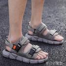 涼鞋男 男士涼鞋拖鞋男士帆布沙灘鞋 涼鞋拖鞋兩用後跟可拆 16【618特惠】