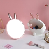 鏡子化妝鏡ins風少女心小鏡子桌面可立小號家用臥室梳妝鏡帶收納 韓國時尚週