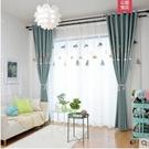 北歐簡約風遮光窗簾繡花布定制窗簾臥室客廳落地窗書房成品隔熱布 寬2.0米x高2.7米 1片價格