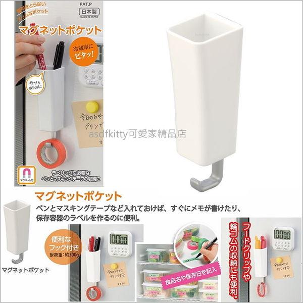 asdfkitty可愛家☆磁鐵式置物架-直-可用於冰箱門.電腦主機..等任何可吸住的地方-日本製