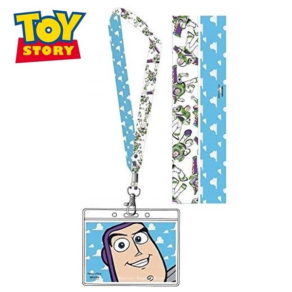 日本限定 迪士尼 玩具總動員 巴斯光年 大臉版 掛繩頸帶 票卡夾 / 識別證 證件卡套