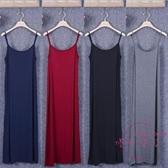 吊帶洋裝 新品女莫代爾長裙大尺碼連身裙寬鬆背心裙吊帶裙無袖長款連身裙【快速出貨】