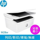 HP LaserJet Pro M28w 無線雷射多功事務機【登錄送500元禮券】