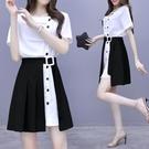 西裝裙 夏季女裝氣質襯衫洋裝子職業輕熟兩件套裝法式顯瘦時尚-Ballet朵朵