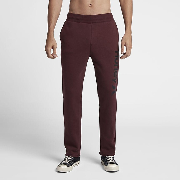 Hurley SURF CHECK ONE & ONLY TRACKPANT 長褲-酒紅(男)