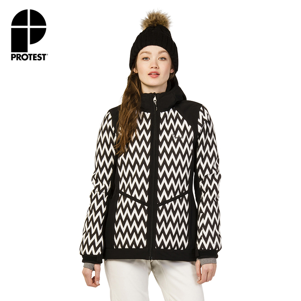 PROTEST 女 機能防水保暖外套 (真實黑) CLEARWATER SNOWJACKET