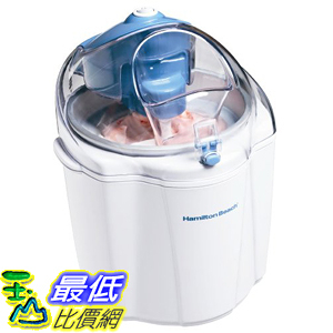 [美國直購] Hamilton Beach 68320 冰淇淋機 1-1/2-Quart Capacity Ice Cream Maker, White