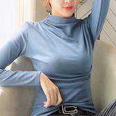 長袖T恤 上衣 打底衫秋冬裝新款打底衫內搭洋氣緊身長袖t恤女潮H412-A 胖丫