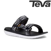 TEVA 超輕量舒適寬版織帶健走涼鞋 TERRA-FLOAT - 黑灰