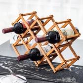 紅酒架實木紅酒瓶擺件酒櫃裝飾品放酒瓶的架紅酒架子北歐創意現代 雙十一全館免運