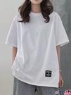 中長款T恤 2021夏新款純棉上衣白色短袖T恤女裝中長款半袖內搭寬鬆韓版潮【618 狂歡】