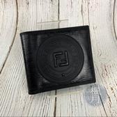 BRAND楓月 FENDI 芬迪 7M0169 A5K4 F0GXN 雙F LOGO 對開短夾 皮夾 錢包