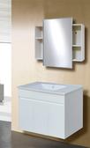 【台灣吉田】LOP-8980 80cm 全發泡桶身/水晶面板 浴櫃組