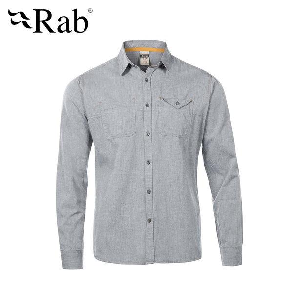 英國 RAB Maker LS Shirt 休閒長袖襯衫 男款 灰色 #QCA80