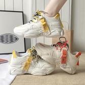 厚底增高鞋女網紅運動鞋女老爹鞋秋冬季新款百搭加絨棉休閒小白鞋