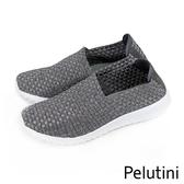 【Pelutini】時尚彈性編織休閒運動鞋  銀色(8455-SIL)