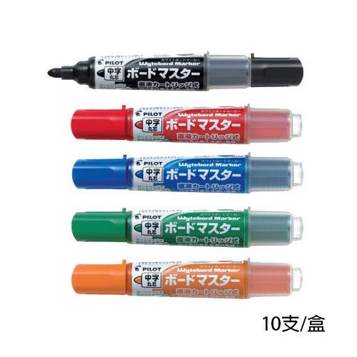 【奇奇文具】百樂PILOT WMBM-12L 中字可換卡水白板筆 10支/盒