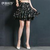 雪紡半身裙夏季新款修身大擺透氣裙子 JD4765【3C環球數位館】