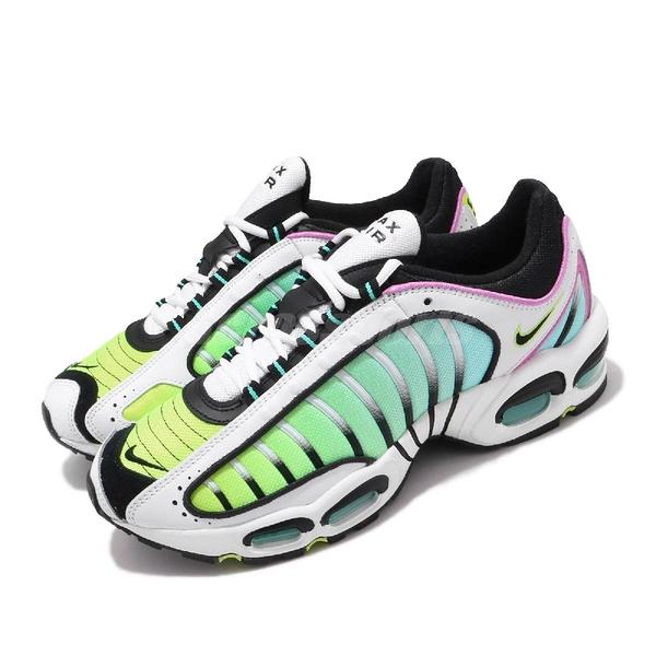 【海外限定】Nike 慢跑鞋 Air Max Tailwind IV 白 螢光黃 藍 漸層 氣墊 男鞋 【ACS】 AQ2567-103