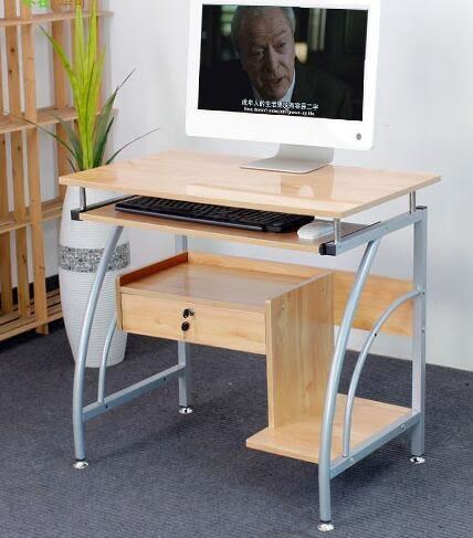 電腦桌 台式桌家用簡約可行動鋼琴面簡易辦公桌學習書桌igo【極有家】