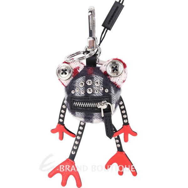 BURBERRY Doris 青蛙造型喀什米爾吊飾(黑x紅) 1820067-26