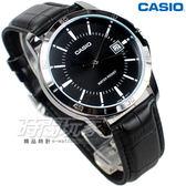 CASIO 卡西歐 MTP-V004L-1A 指針錶 城市時刻 日期顯示窗 皮帶 男錶 防水錶 黑色 MTP-V004L-1AUDF