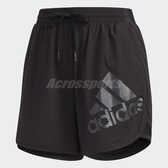 adidas 短褲 Shorts Boston 女款 運動褲 慢跑褲 素面 大LOGO 黑 【PUMP306】 DY8664