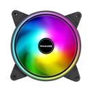 筆電散熱器 航嘉GX120棱鏡12CM臺式機電腦風冷散熱器DIY主機靜音機箱風扇RGB【快速出貨八折搶購】
