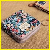 韓國版創意零錢包兒童小物件鑰匙袋可愛硬幣包女生迷你碎花帆布包