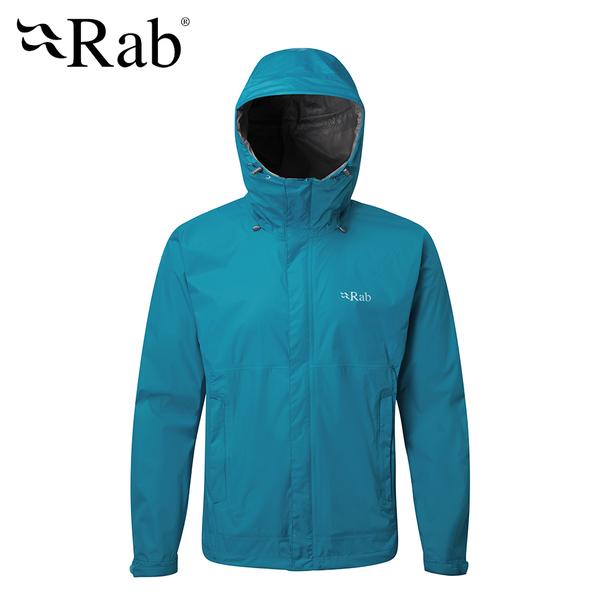 英國 RAB Downpour Jacket 高透氣連帽防水外套 男款 蔚藍 #QWF61