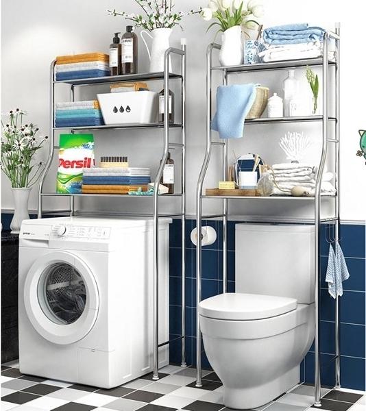 不銹鋼浴室衛生間置物架壁掛收納廁所洗手間洗衣機馬桶架子落地式  【快速出貨】