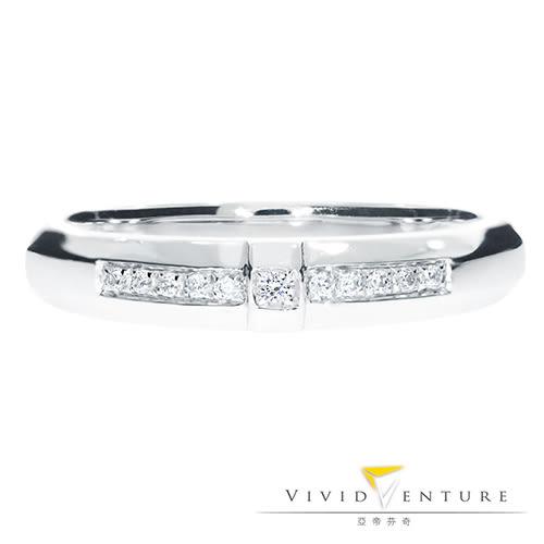 鑽石戒指 拼接款0.07克拉 線戒 亞帝芬奇 璀璨魅力