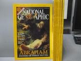 【書寶二手書T6/雜誌期刊_XAG】國家地理雜誌_2001/1~12月間_共7本合售_Abraham等_英文版